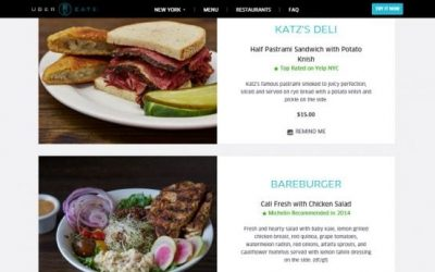UberEats worldwide: the rapid expansion of novel food delivery
