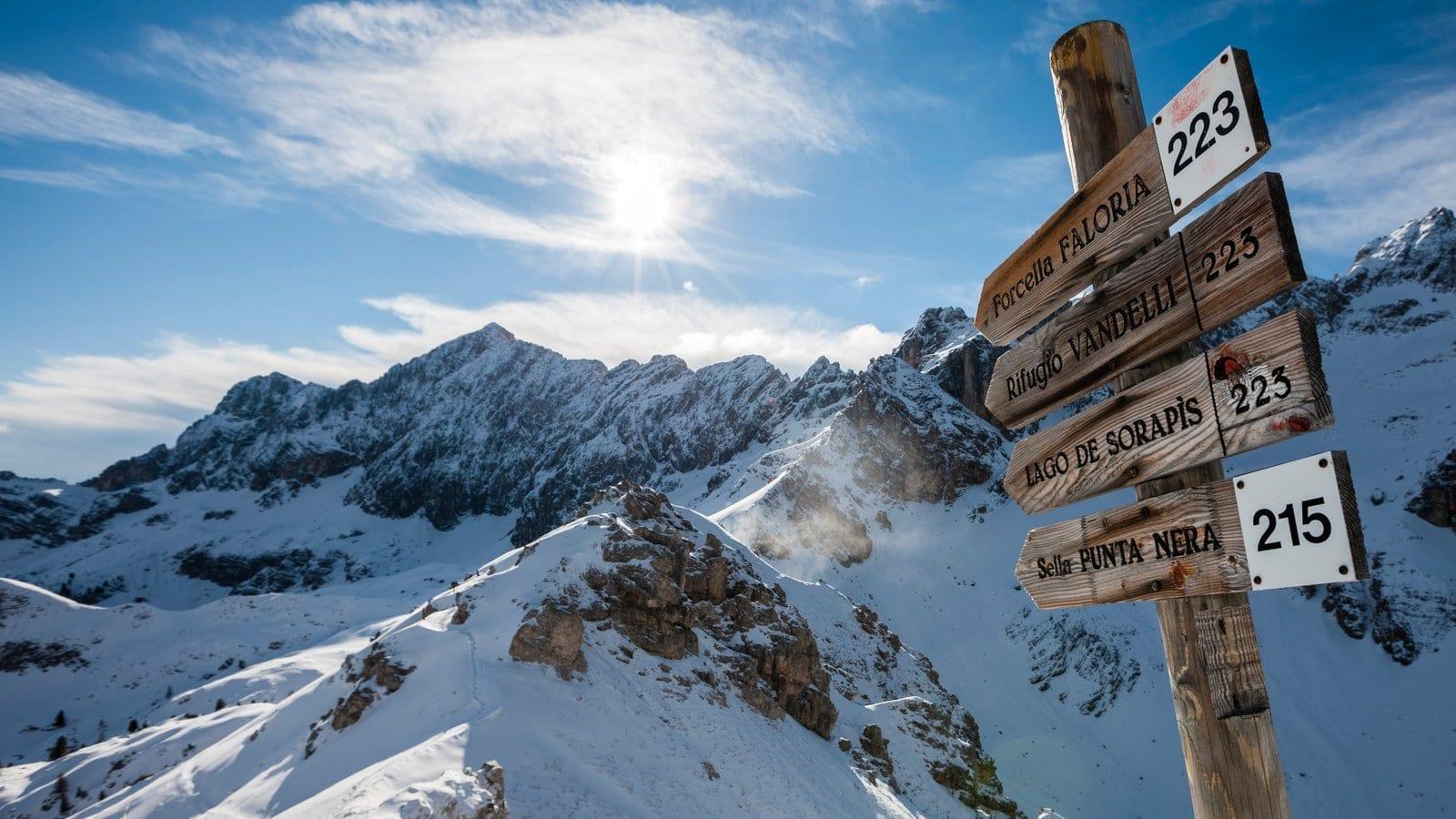 Cortina D'Ampezzo, piste da sci
