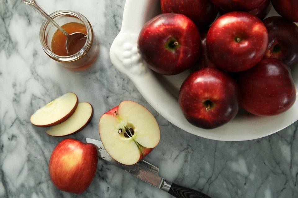 sliced cosmic crisp apple