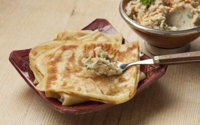 World breakfasts. Morocco: msemen, baghrir, mint tea