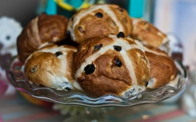 Easter in the UK: hot cross buns and simnel cake