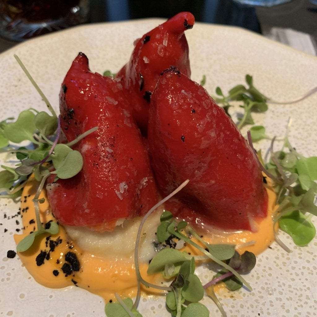 Piquillo peppers with cod brandade