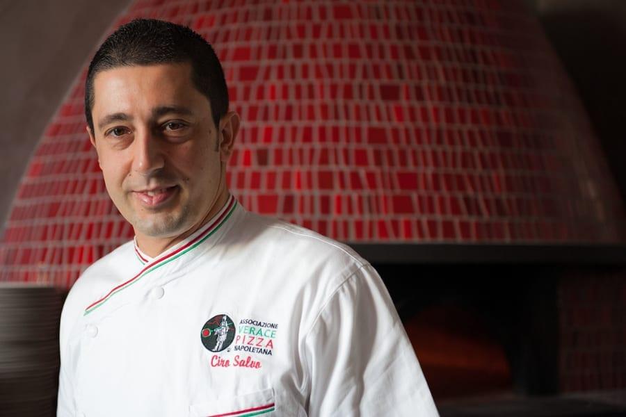 Ciro Salvo of pizzeria 50 kalò in Naples, Italy