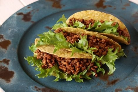 Tacos with mince meat
