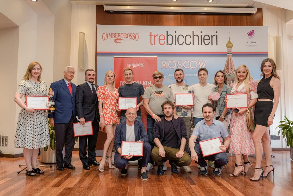 Find out more about Tre Bicchieri in Russia