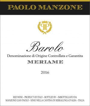 Barolo Meriame 2016